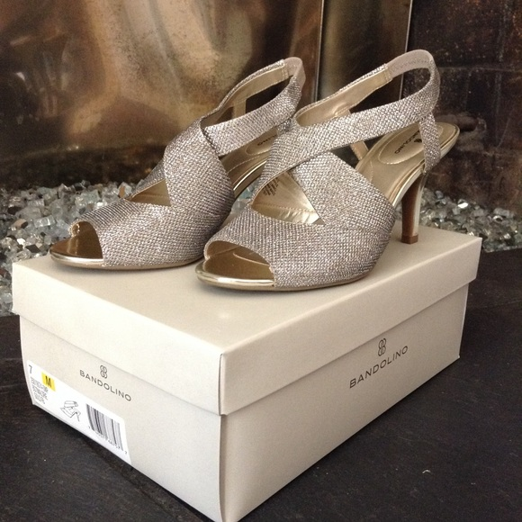 Shoes - Bandolino Slingback Glitter Pump
